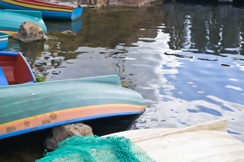 Download Rowing Boats Moored Lakeside Stock Photo - Image of equipment, over: 5006382