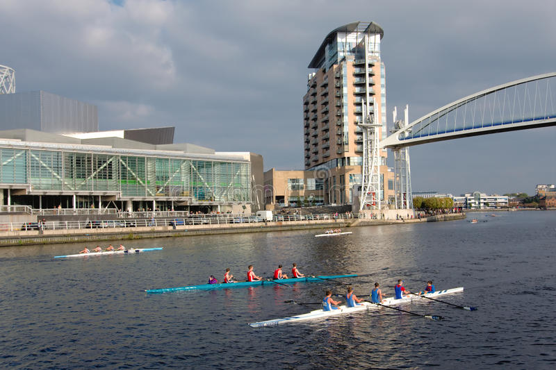 Download Rowing Boat Race In Manchester, England Editorial Stock Image - Image: 21643009