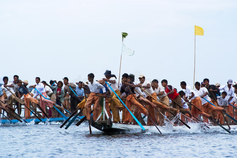 Download Rowing Competition On Inle Lake Editorial Stock Photo - Image: 26545353