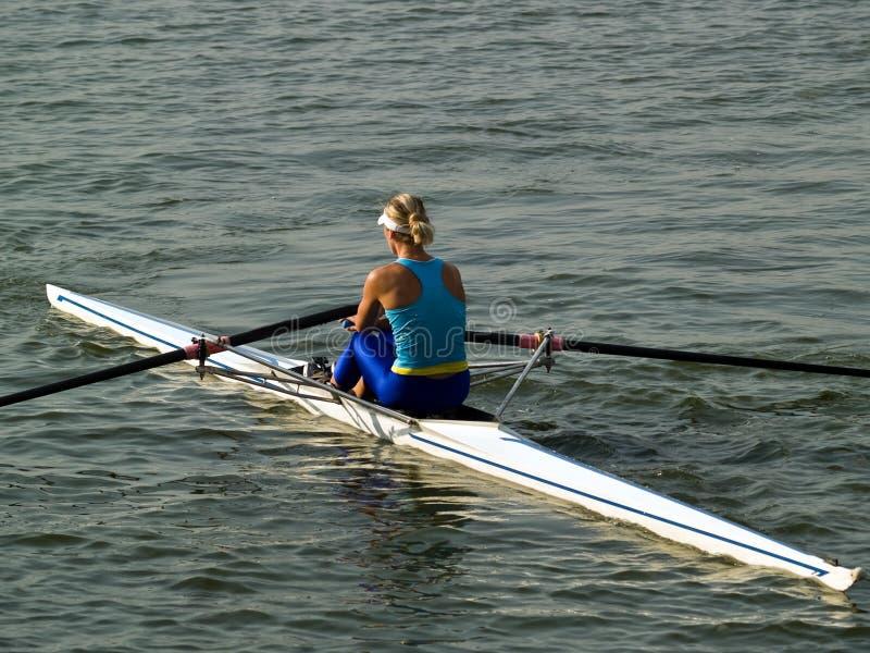 Rowing girl royalty free stock photos