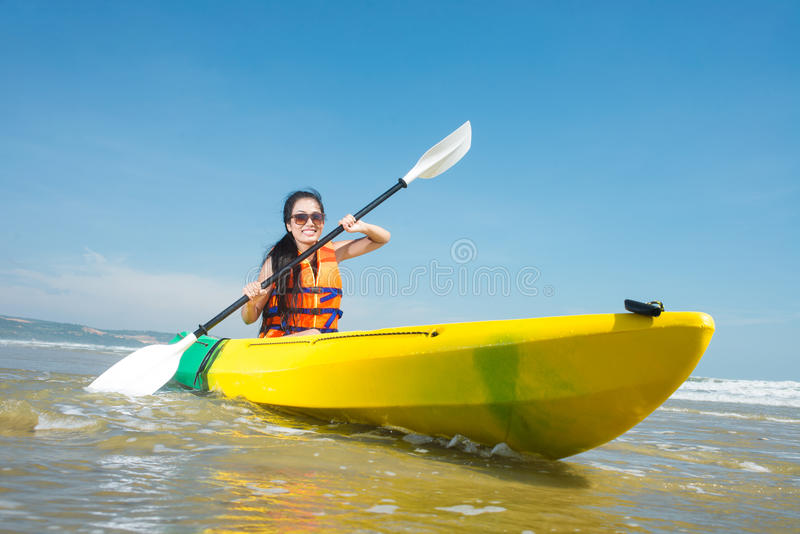 Rowing Girl Royalty Free Stock Photo
