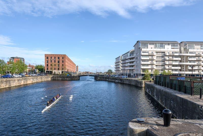 Rowing Liverpool foto de archivo