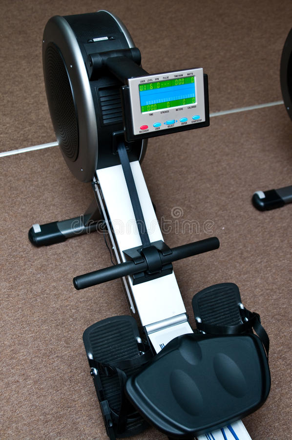 Rowing machine stock images