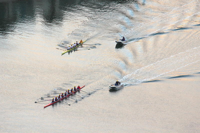 Rowing Regatta Aerial Image Editorial Stock Photo