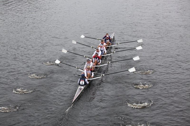 rowing reg подводящих водоводов charles мы стоковые изображения