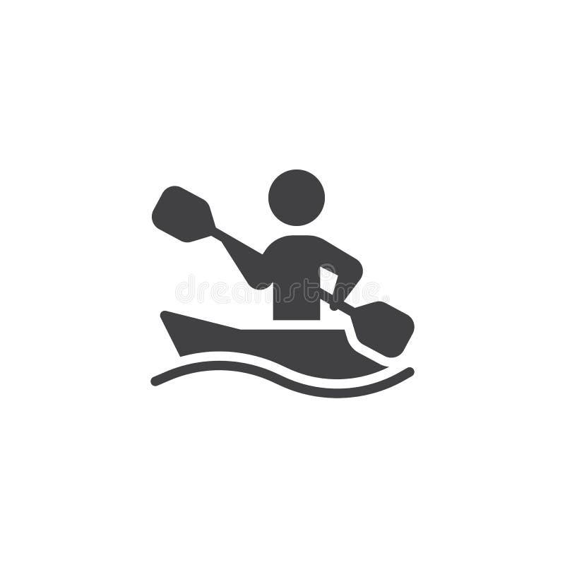 Rowing sport training vector icon royalty free illustration