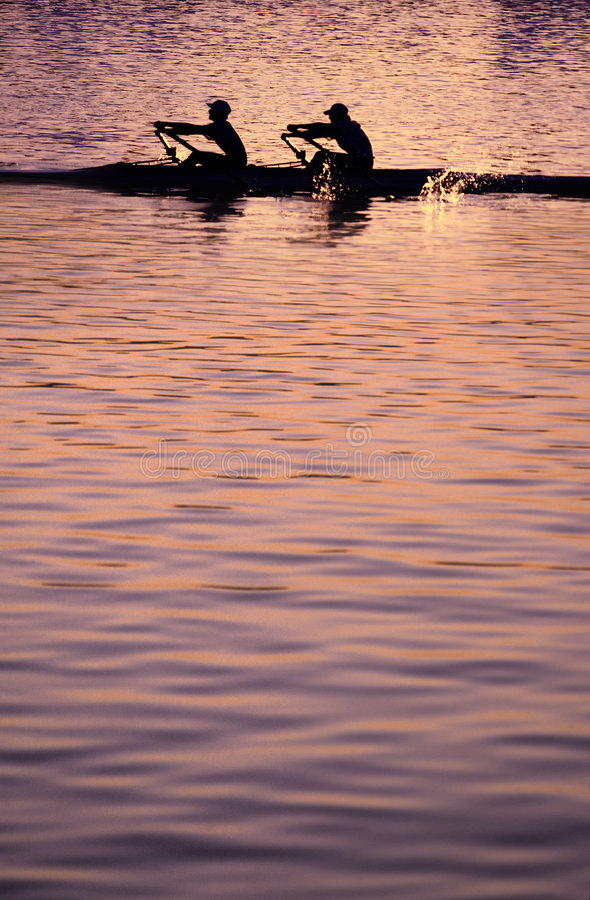 Free Rowing Sunset Stock Photo - 3553530