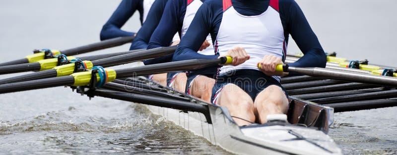 Rowing team stock photos