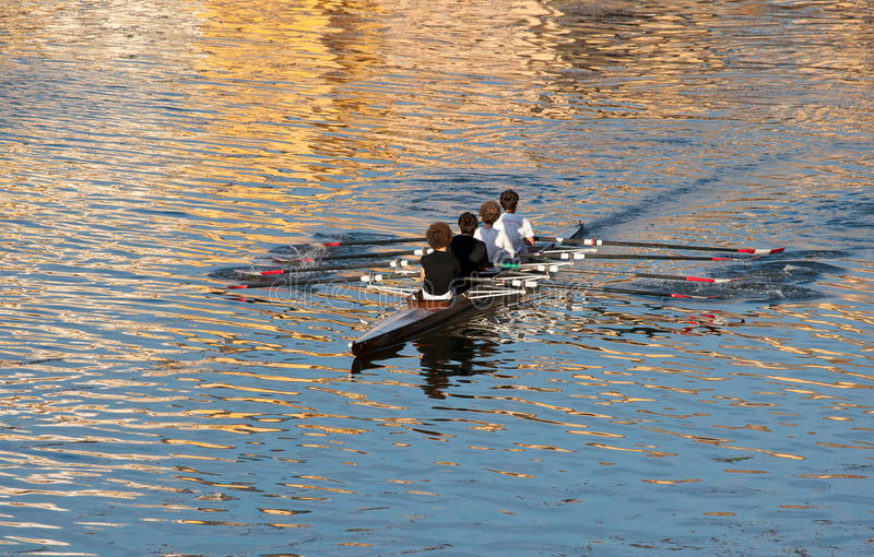 Rowing team. On river Arno in Florence Italy prepare for training... Rowing, often referred to as crew in the United States,[1] is a sport with origins back to stock photos