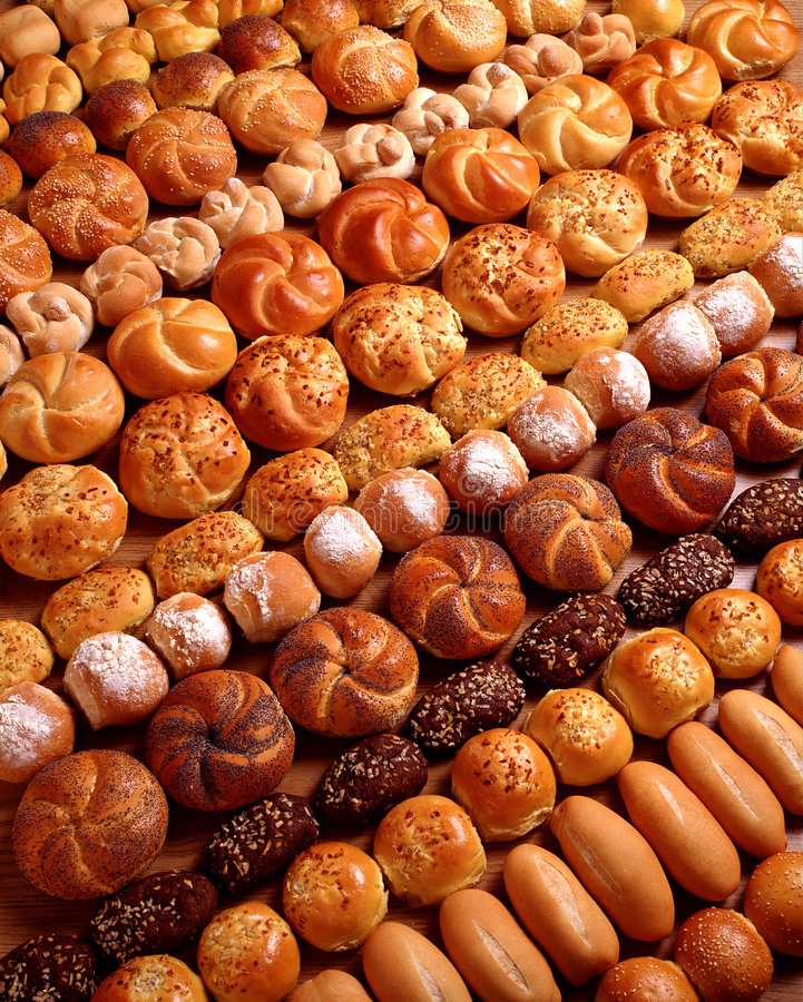 Rows Of Bread stock images