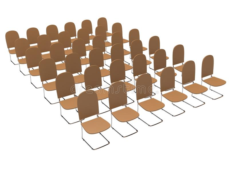 Download Rows of chairs stock illustration. Illustration of friendly - 22496073