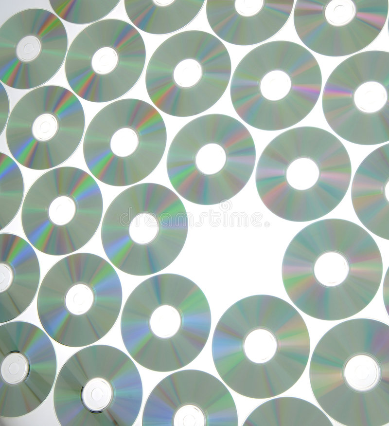 Download Rows of compact disks stock image. Image of display, abstract - 7982511