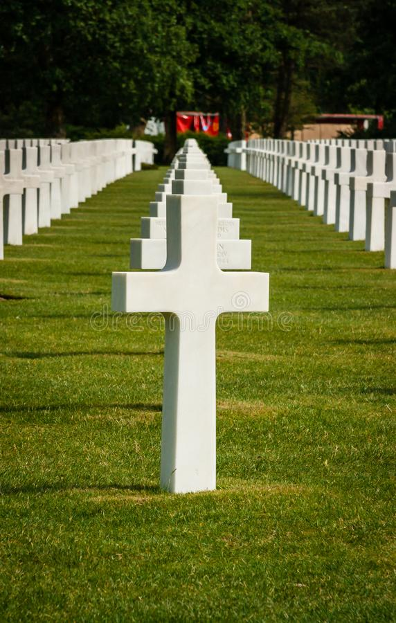 American cemetery in Normandy France stock photo
