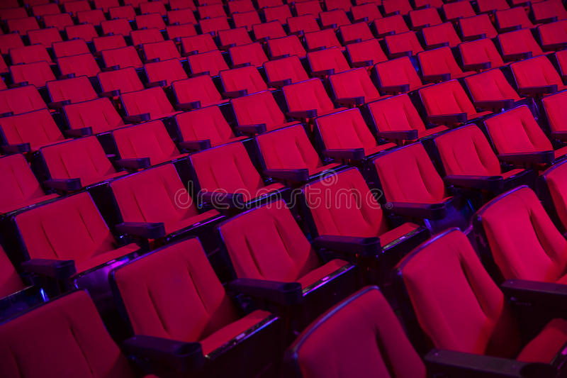 Rows of empty theater seats royalty free stock photos