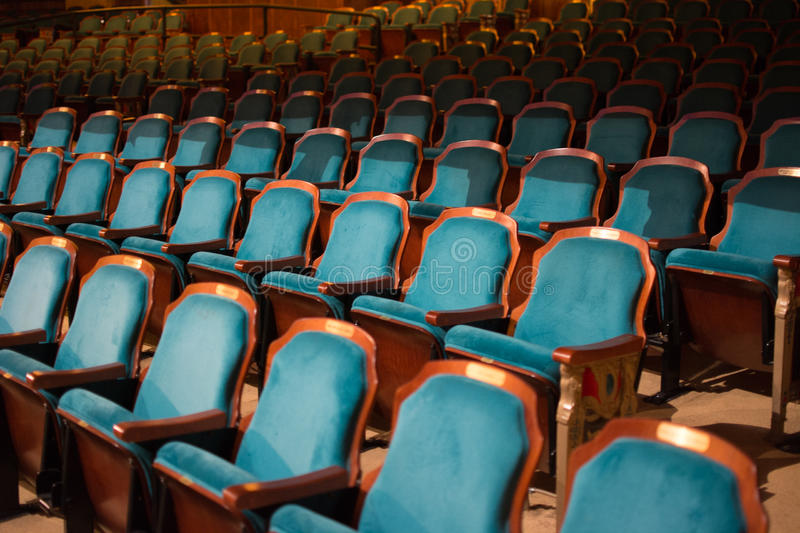 Rows of empty theater seats royalty free stock images