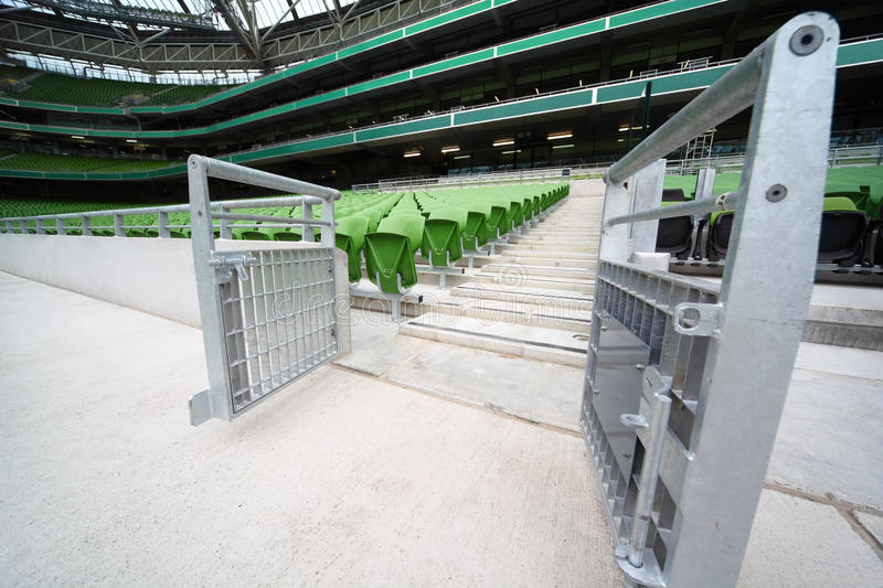 Download Rows Of Folded, Green Seats In Empty Stadium Stock Images - Image: 18595804