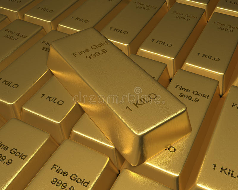 Download Rows of Gold Bars stock illustration. Image of making - 35298164
