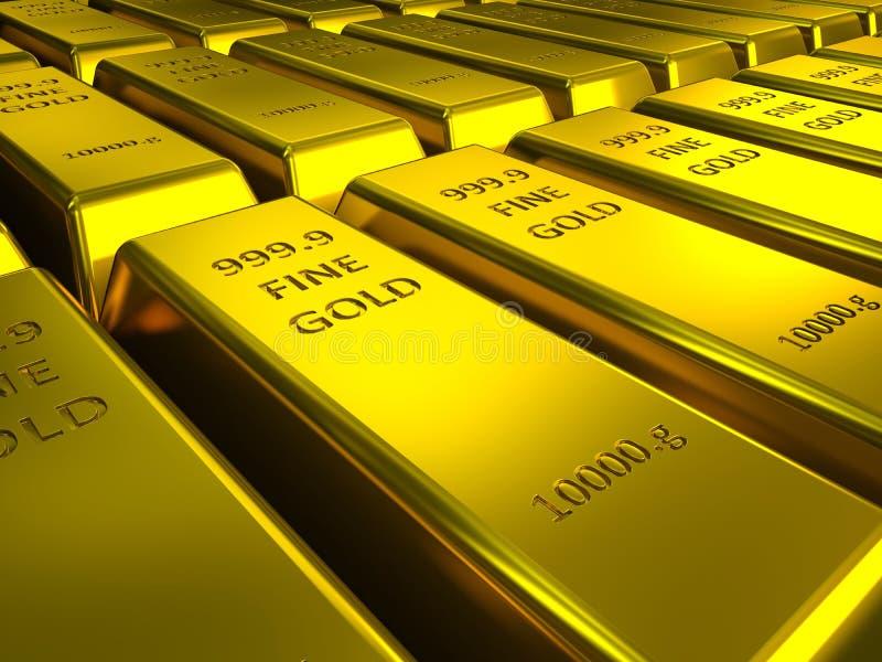 Download Rows of gold bars stock illustration. Image of make, bullion - 30130658