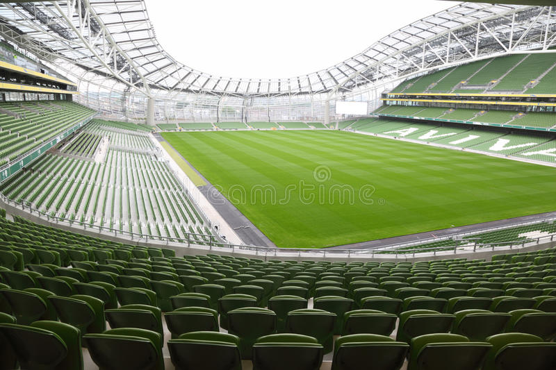 Download Rows Of Green Seats In An Empty Stadium Aviva Editorial Photography - Image: 16817467