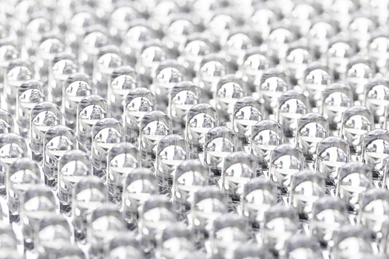 Rows of LEDs in the panel. Straight rows of LEDs in the panel close-up macro royalty free stock photography