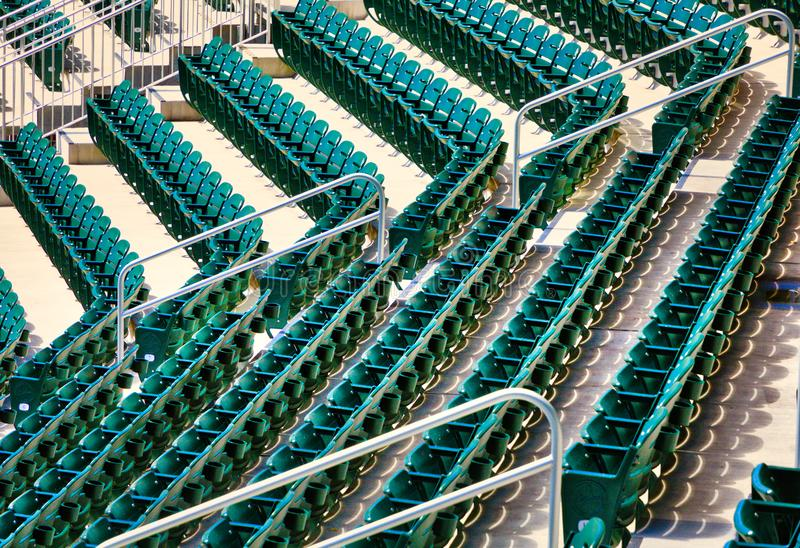 Rows of Green Seats in Stadium. Rows of Many Green Seats in a stadium stock photography