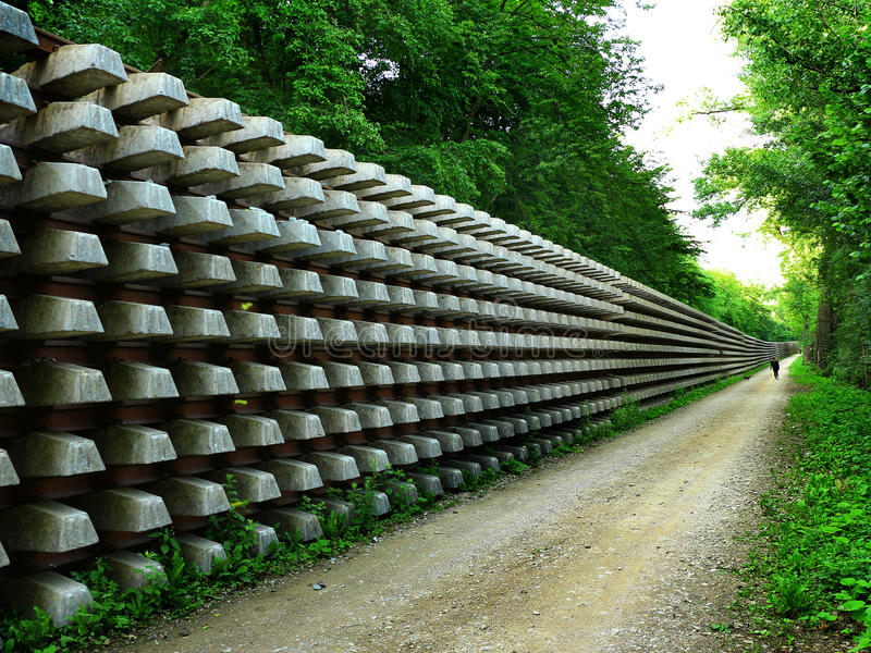 Rows of rails and sleepers royalty free stock photos