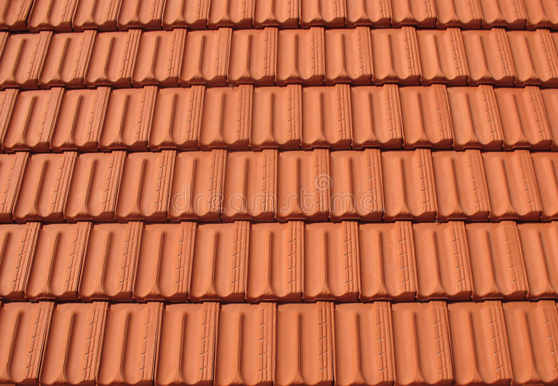 Rows of Roof Tiles royalty free stock photography