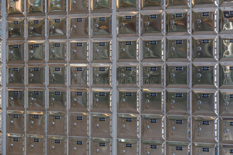 Rows of safe deposit boxes royalty free stock images