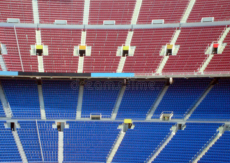 Download Rows of seating in stadium stock image. Image of many - 6119657