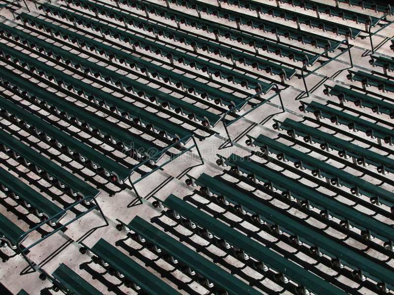 Download Rows of Stadium Seats stock image. Image of seats, handrail - 5047759