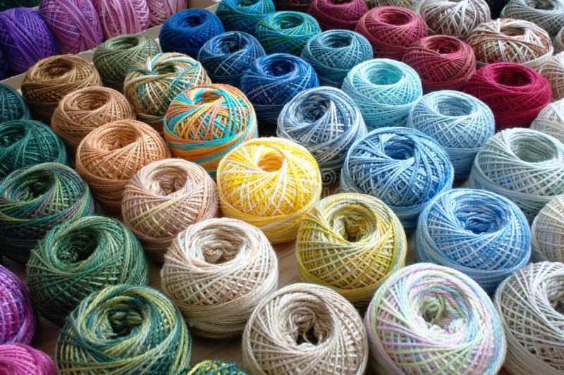 Download Rows of string stock photo. Image of stitch, yarn, colours - 24799106
