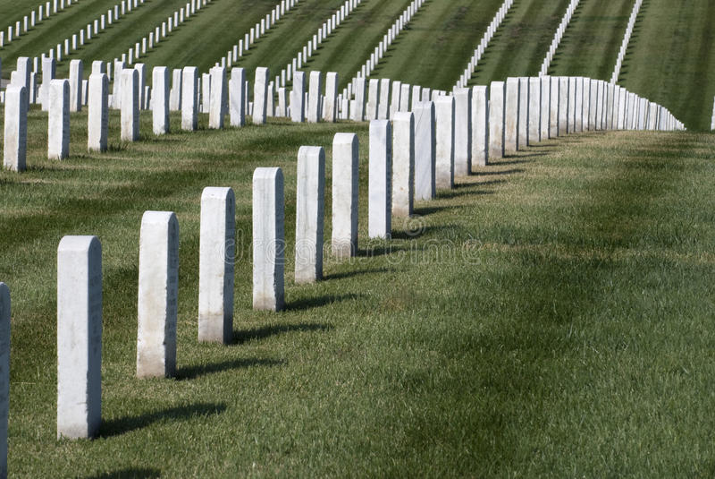 Rows of Tombstones stock photo