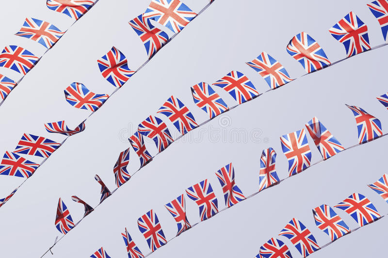 Download Rows Of UK Union Flag Bunting Stock Image - Image: 29161853