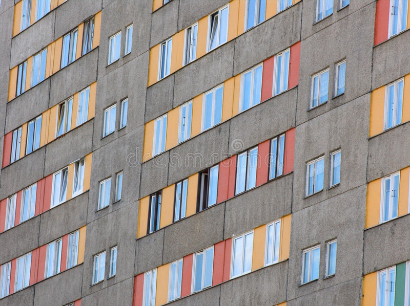 Rows of windows stock image