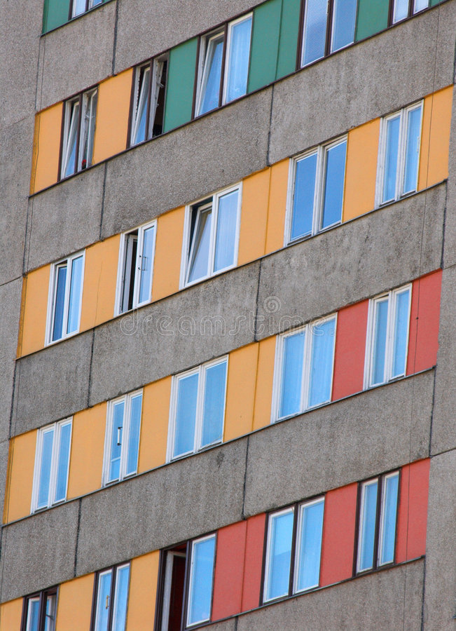 Download Rows of windows stock photo. Image of suburb, condo, apartment - 160462