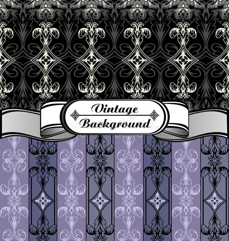 Roxo cinzento preto branco do fundo do vintage ilustração royalty free