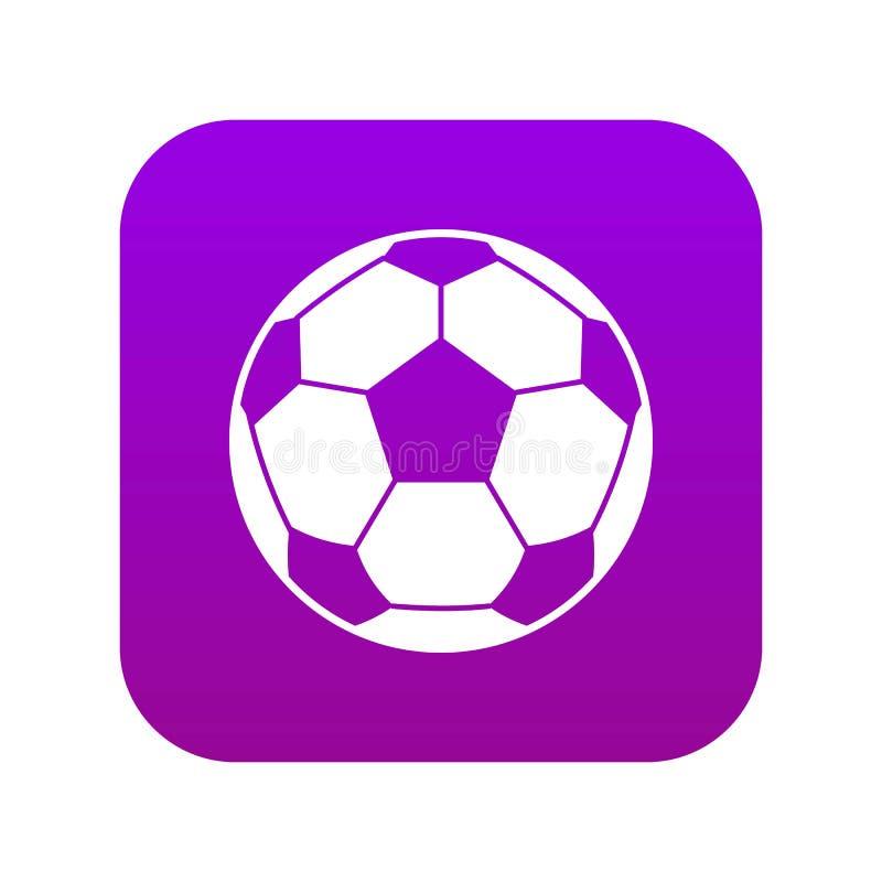 Roxo digital do ícone da bola de futebol do futebol ilustração do vetor