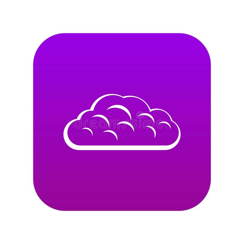 Roxo digital do ícone da nuvem do inverno ilustração stock