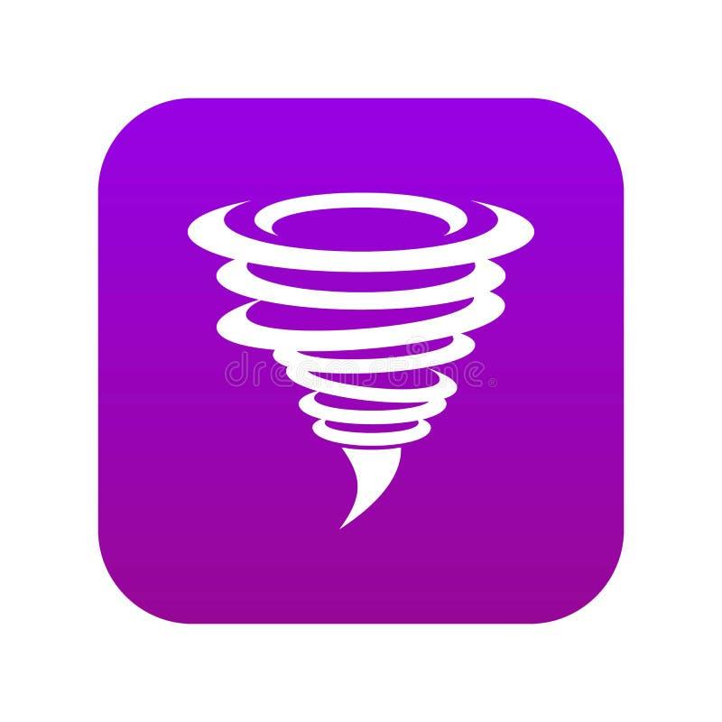 Roxo digital do ícone do furacão ilustração stock