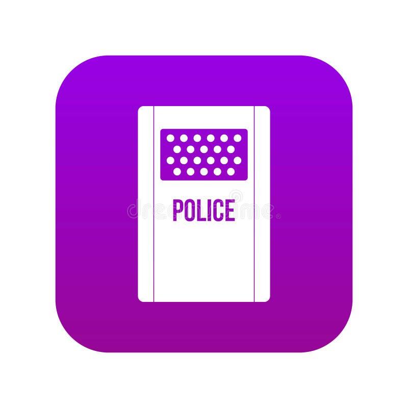 Roxo digital do ícone do protetor do motim ilustração royalty free