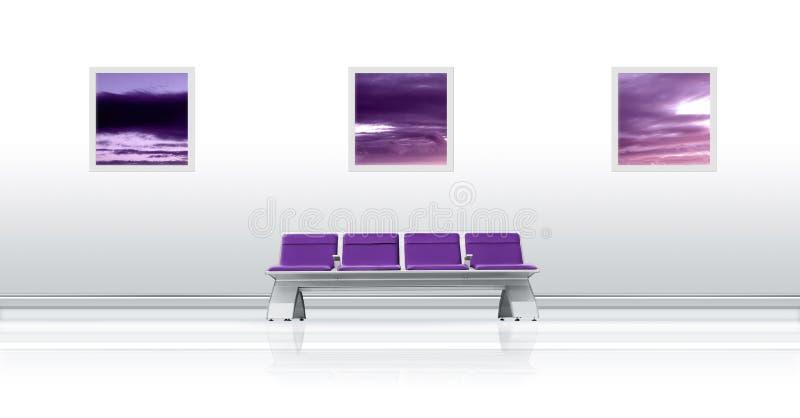 Roxo do assento do aeroporto imagens de stock royalty free