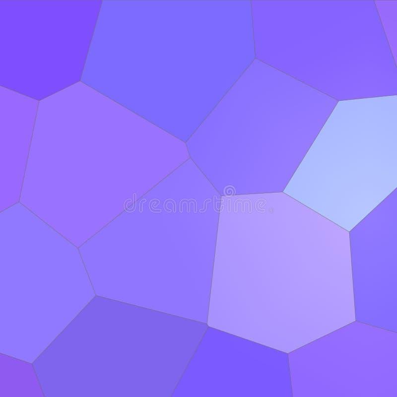 Roxo e hexágono gigante colorido azul na ilustração quadrada do fundo da forma ilustração royalty free