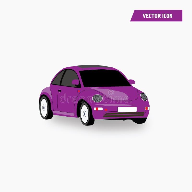 Roxo, Mini Car Coupe Icon Vetora violeta ilustração stock