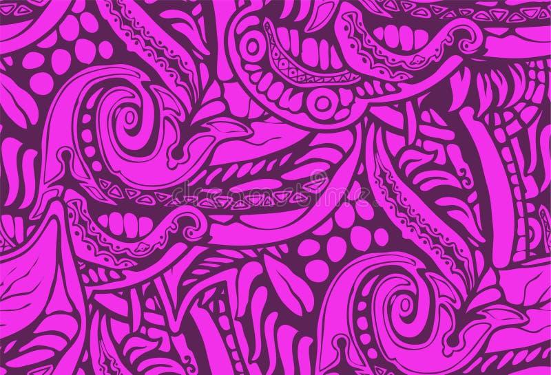Roxo natural decorativo do rosa do teste padrão do fundo ilustração stock