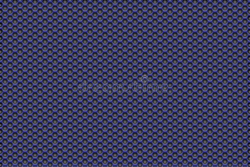 Roxo para enegrecer o fundo do teste padrão com pentagons fotos de stock