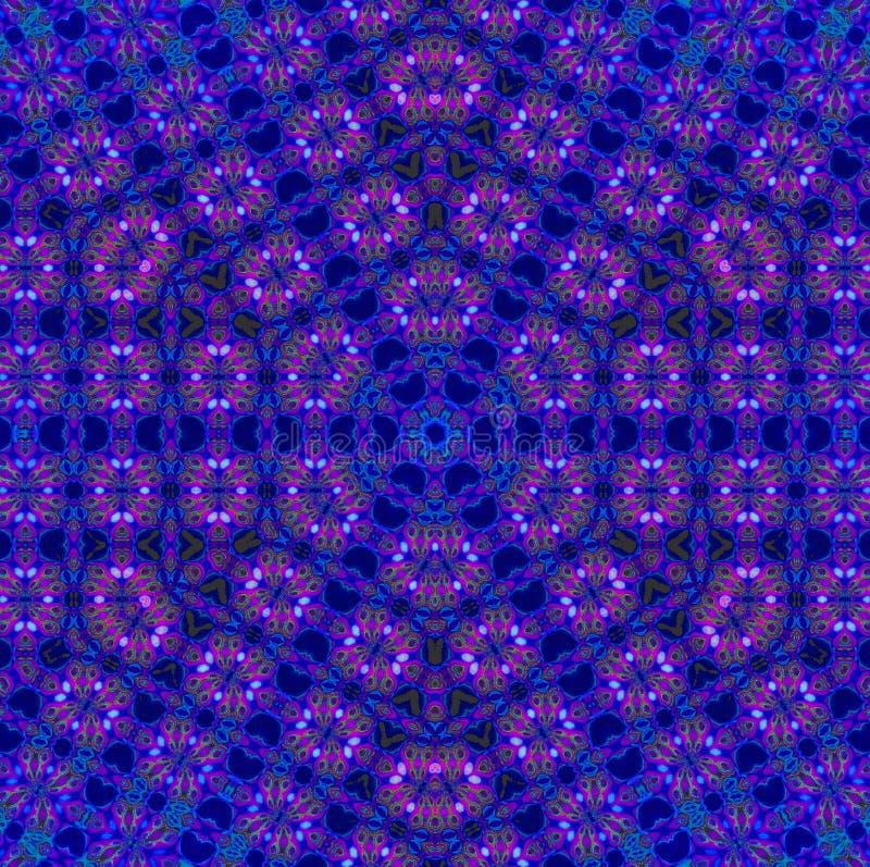 Roxo violeta do teste padrão sem emenda do hexágono ilustração stock