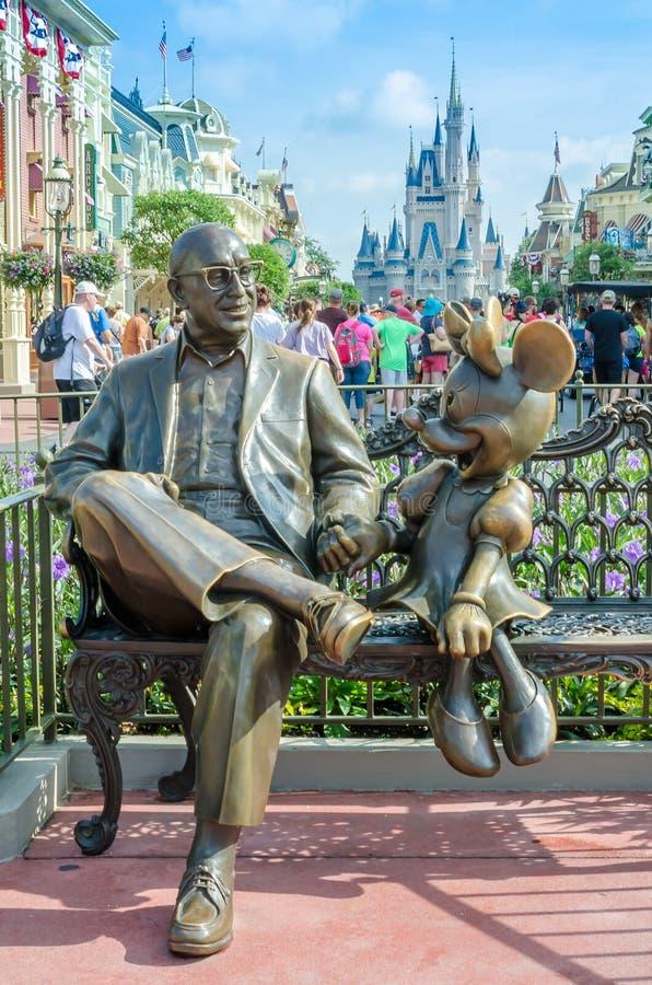 Roy Disney en Minnie Mouse stock foto
