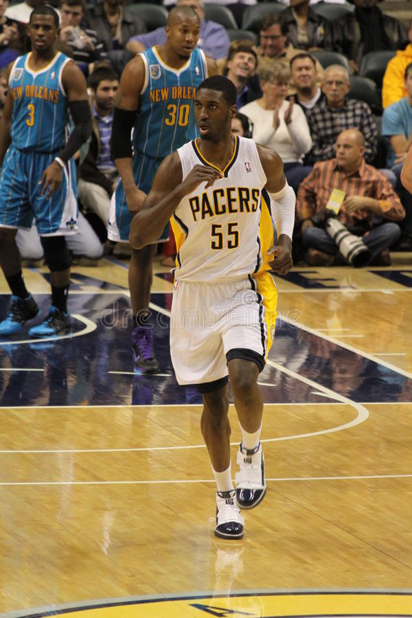 Roy Hibbert Indiana Pacers Running Down Court Editorial Photography
