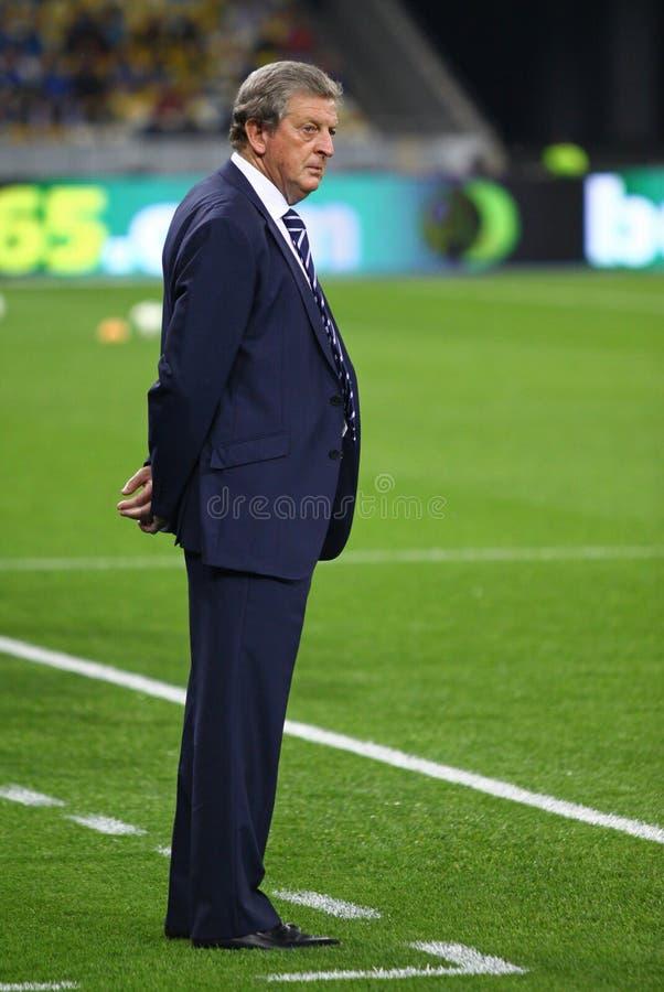 Roy Hodgson, Manager des nationalen Fußballteams Englands lizenzfreies stockfoto