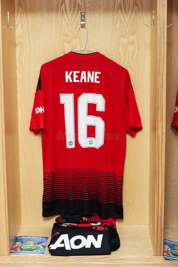 Roy Keane Jersey klaar voor de Liam Miller Tribute-gelijke royalty-vrije stock foto
